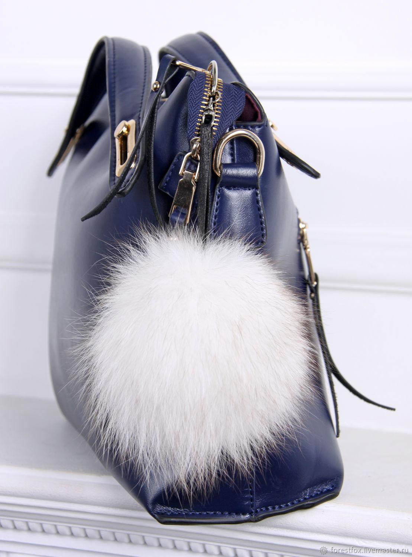 Меховой брелок на сумку, брелок из натурального меха