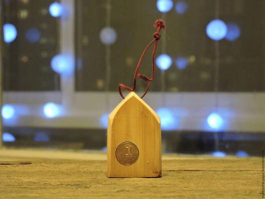Новый год 2017 ручной работы. Ярмарка Мастеров - ручная работа. Купить Домик, приносящий в ваш дом достаток. Handmade.
