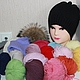 Шапки и шарфы ручной работы. Зимние шапочки Холода. Valerie (ValeriShiryaeva). Интернет-магазин Ярмарка Мастеров. Однотонный, енот