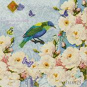 Материалы для творчества handmade. Livemaster - original item Napkin decoupage Tree vintage birds of Paradise. Handmade.