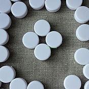 Материалы для творчества ручной работы. Ярмарка Мастеров - ручная работа Гремелка для игрушки таблетка 22 мм. Handmade.