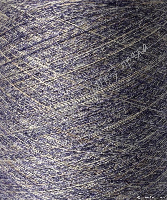 Пряжа Шелк Лён меринос Libeccio imprime молочный-фиолетовый – купить на Ярмарке Мастеров – ICR81RU   Пряжа, Санкт-Петербург