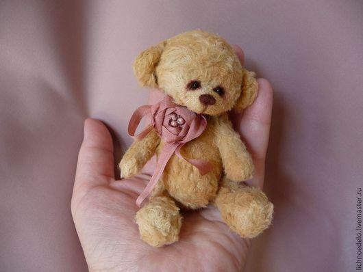 Мишки Тедди ручной работы. Ярмарка Мастеров - ручная работа. Купить Мишка-мини Роуз. Handmade. Бежевый, шплинты
