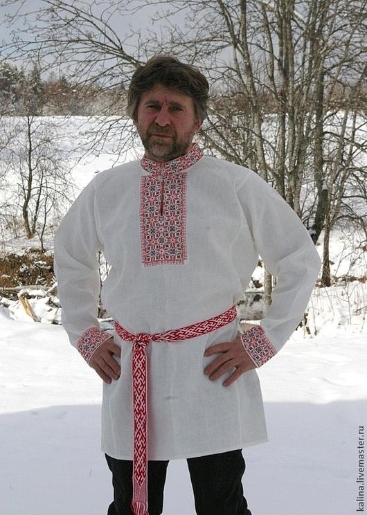 Одежда ручной работы. Ярмарка Мастеров - ручная работа. Купить Традиционная праздничная рубаха. Handmade. Белый, славянская рубаха