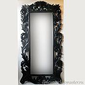 Для дома и интерьера ручной работы. Ярмарка Мастеров - ручная работа Резьба по дереву. Рама для зеркала (большая). Handmade.