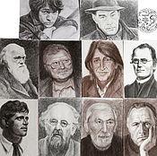 Картины и панно ручной работы. Ярмарка Мастеров - ручная работа Портреты известных людей. Handmade.