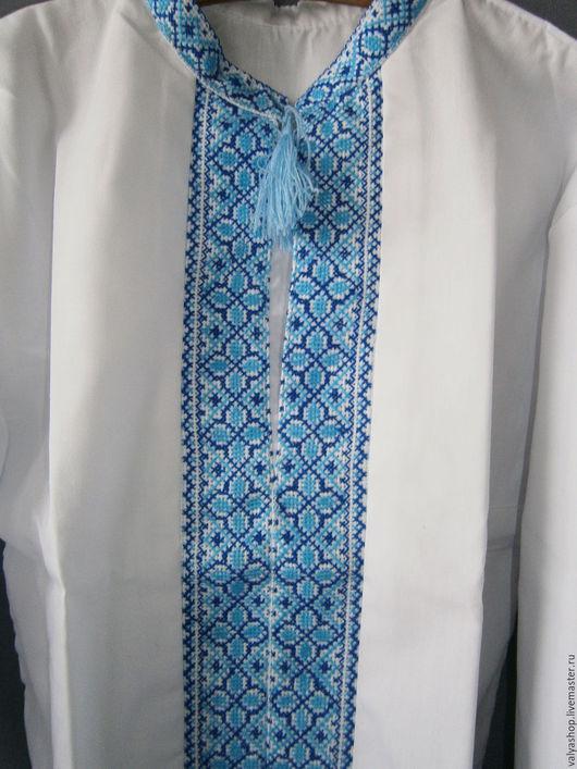 Одежда для мальчиков, ручной работы. Ярмарка Мастеров - ручная работа. Купить Сорочка-вышиванка сдомоткани белая для мальчика 1-12летручная работа. Handmade.