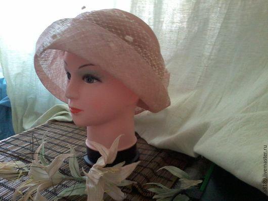 Шляпы ручной работы. Ярмарка Мастеров - ручная работа. Купить Шляпка с полями. Handmade. Бежевый, пальмовое волокно