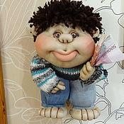 Портретная кукла ручной работы. Ярмарка Мастеров - ручная работа Куклы: Кукла на Удачу Брюнетик. Handmade.