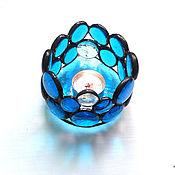 Для дома и интерьера handmade. Livemaster - original item Aqua candle holder in the form of drops.. Handmade.