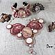 Комплекты украшений ручной работы. Ярмарка Мастеров - ручная работа. Купить гарнитур Лань Тсай-Хо. Handmade. Розовый