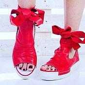 Обувь ручной работы. Ярмарка Мастеров - ручная работа летние ботиночки в спортивном стиле. Handmade.