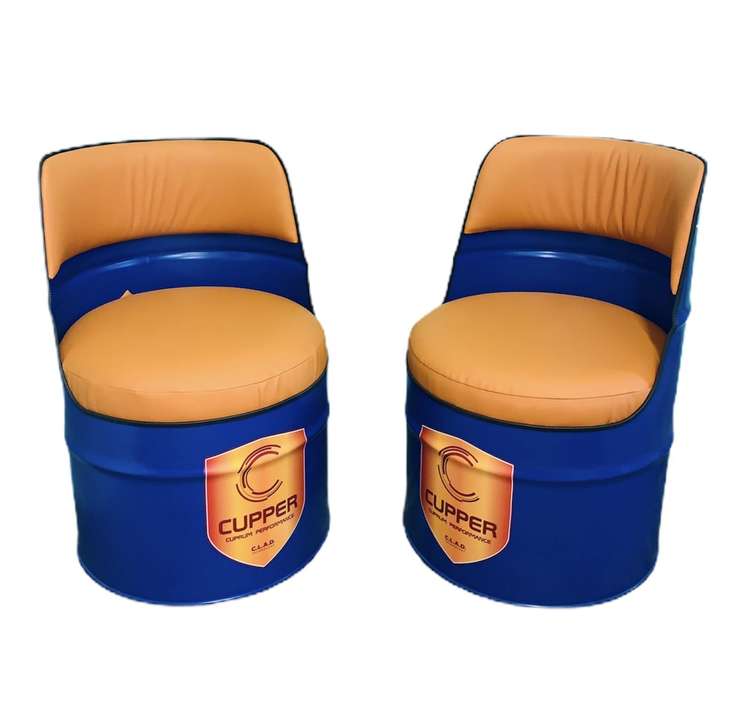 The chair of the metal barrels. Barrel chair, Chairs1, Moscow,  Фото №1