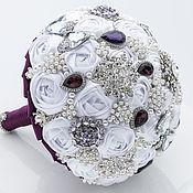 Свадебный салон handmade. Livemaster - original item Wedding Brooch Bouquet, Kate