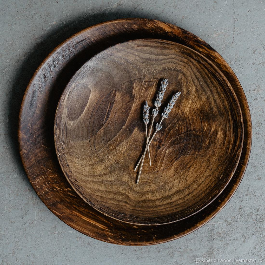 Set of Wooden Plates 2 PCs 100%#42, Plates, Novokuznetsk,  Фото №1