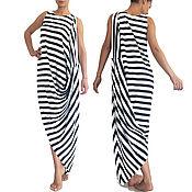 Одежда handmade. Livemaster - original item Summer Maxi dress, Womens Long Jersey dress. Handmade.