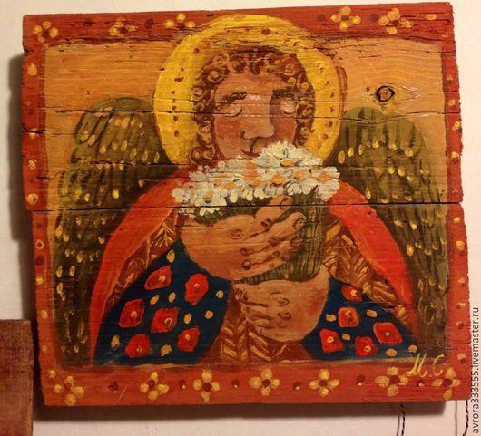 Символизм ручной работы. Ярмарка Мастеров - ручная работа. Купить Ангел. Handmade. Красный, охра, рыжий, зеленый, бежевый, ангел