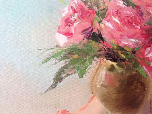 """Натюрморт ручной работы. Ярмарка Мастеров - ручная работа. Купить Картина маслом """"Букет"""" 40х30. Handmade. Розовый, живопись маслом"""