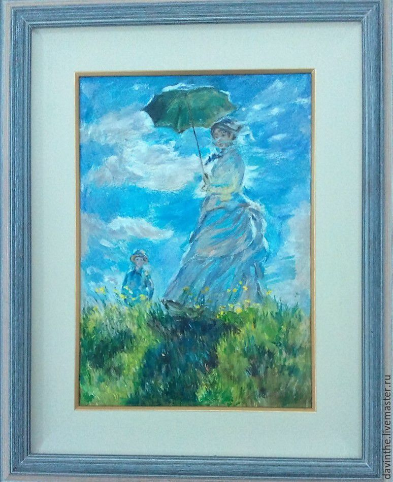 Прогулка, женщина с зонтиком копия, Картины, Афины,  Фото №1