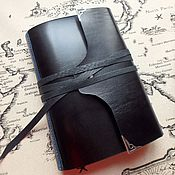 Канцелярские товары handmade. Livemaster - original item Ring notebook, A5 leather notebook, gift for a man. Handmade.