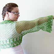 Одежда ручной работы. Ярмарка Мастеров - ручная работа Шраг-болеро Зелёный лес. Handmade.
