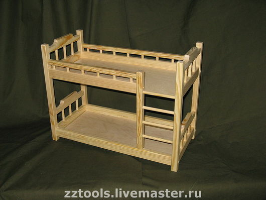 Кукольный дом ручной работы. Ярмарка Мастеров - ручная работа. Купить Кроватка двухъярусная для кукол. Handmade. Кроватка двухъярусная