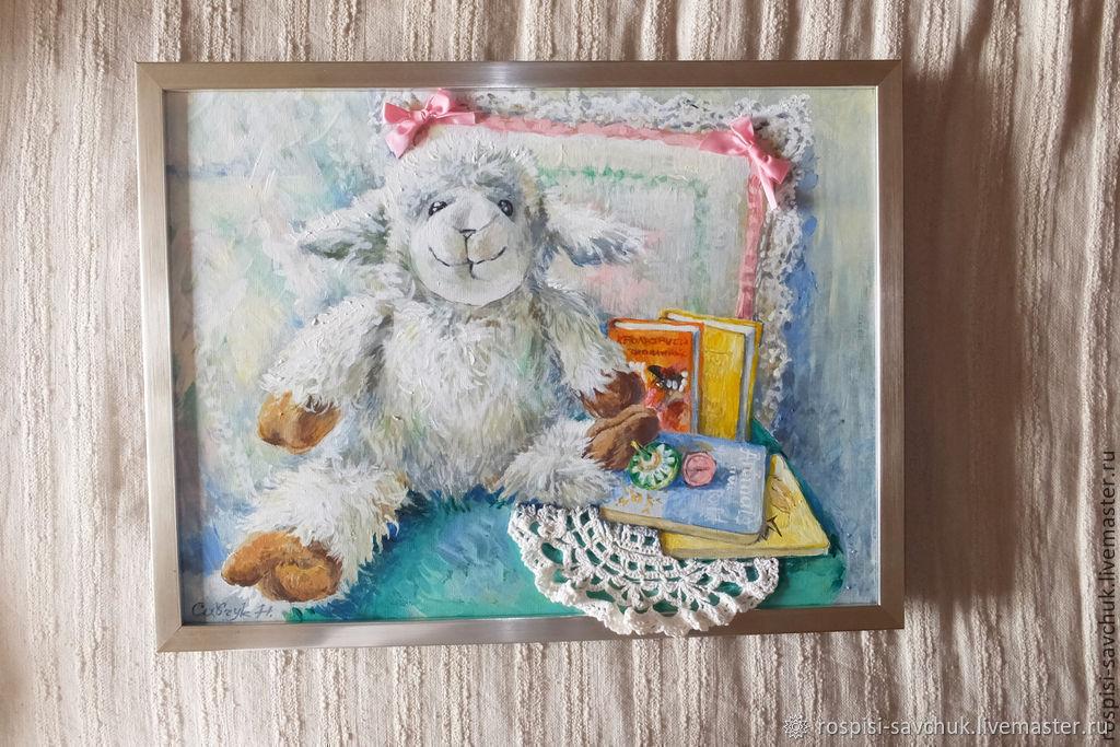 Картина Моя любимая овечка. Для детской комнаты. Подарок ребенку, Картины, Киев,  Фото №1