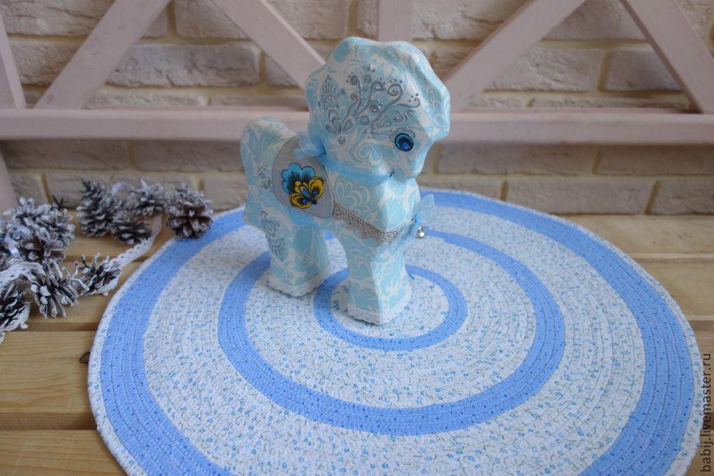 """Текстиль, ковры ручной работы. Ярмарка Мастеров - ручная работа. Купить Коврик """"Дачный"""". Handmade. Голубой, коврик для детской"""
