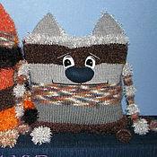 Для дома и интерьера ручной работы. Ярмарка Мастеров - ручная работа Вязаный кот-подушка. Handmade.