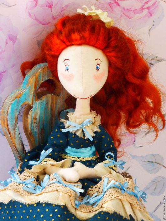 Коллекционные куклы ручной работы. Ярмарка Мастеров - ручная работа. Купить Кукла текстильная Клэр. Handmade. Тёмно-зелёный, интерьер