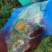 Аксессуары ручной работы. Ярмарка Мастеров - ручная работа шарф валяный Королевство Тайных тропинок. Handmade.