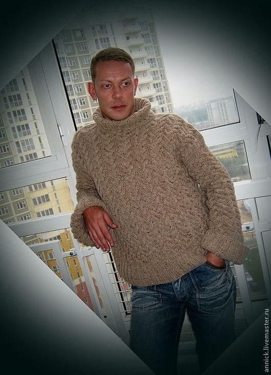 Кофты и свитера ручной работы. Ярмарка Мастеров - ручная работа. Купить Мужской объемный вязаный свитер. Handmade. Свитер, шерсть
