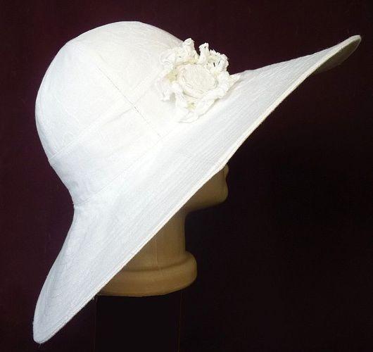 """Шляпы ручной работы. Ярмарка Мастеров - ручная работа. Купить Шляпа из льна """"Белоснежка"""". Handmade. Шляпа из льна, пляжная мода"""