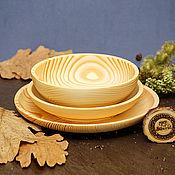 Посуда handmade. Livemaster - original item Set of Wooden Plates (3#37. Handmade.