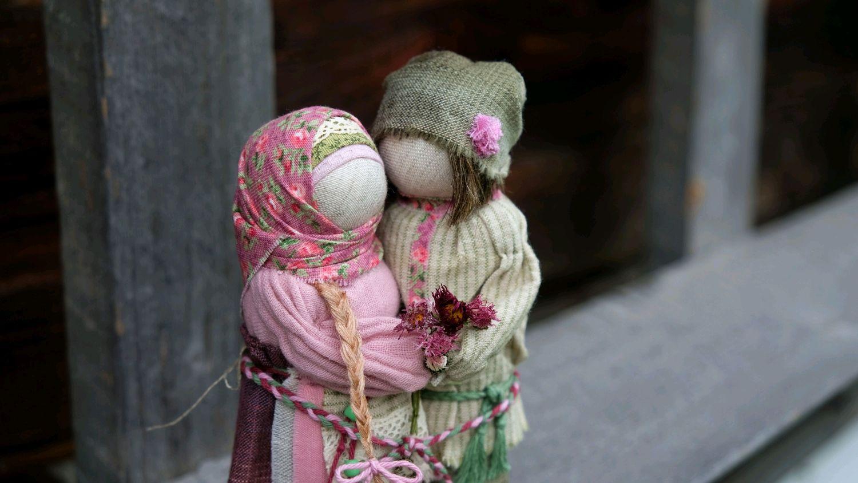 Куклы Неразлучники Весеннее цветение, Народная кукла, Чемал,  Фото №1