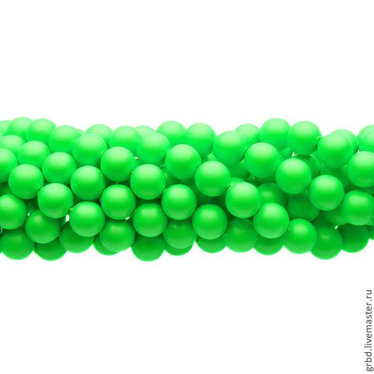 Для украшений ручной работы. Ярмарка Мастеров - ручная работа. Купить Жемчуг Сваровски 6 мм 5810 Neon Green (06-771). Handmade.
