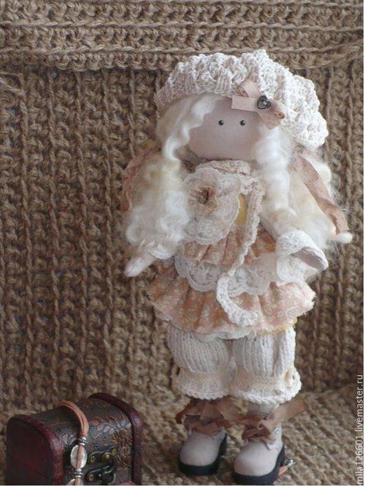 Коллекционные куклы ручной работы. Ярмарка Мастеров - ручная работа. Купить Интерьерная кукла Любочка. Handmade. Бежевый