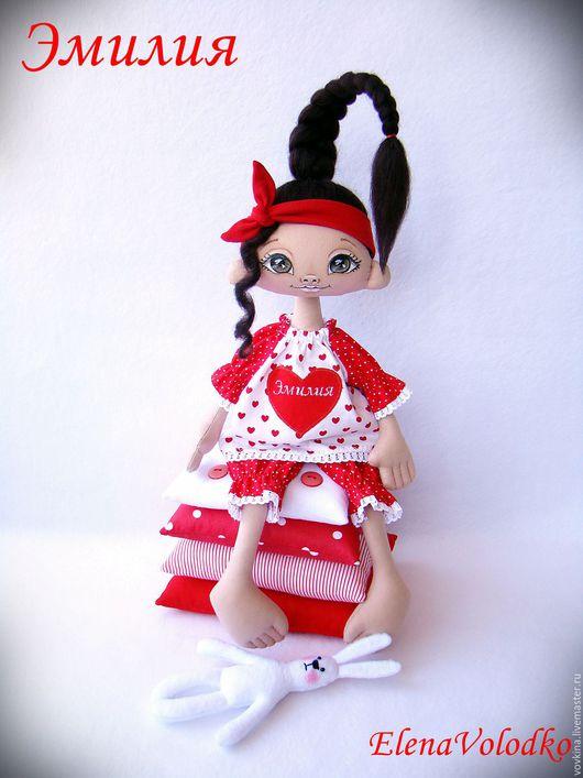 Коллекционные куклы ручной работы. Ярмарка Мастеров - ручная работа. Купить Куколка Эмилия. Принцесса на подушках. Handmade. Ярко-красный