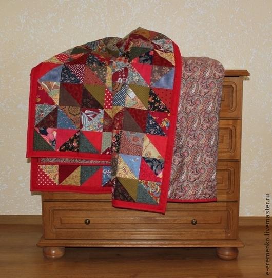 Текстиль, ковры ручной работы. Ярмарка Мастеров - ручная работа. Купить Русский лоскутный плед. Handmade. Разноцветный, подарок на дачу