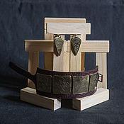 Украшения ручной работы. Ярмарка Мастеров - ручная работа Комплект Геометрический (браслет и серьги). Handmade.