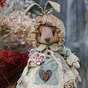 Куклы и игрушки ручной работы. Ярмарка Мастеров - ручная работа Зайка ушки на макушке.. Handmade.