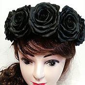 Ободки ручной работы. Ярмарка Мастеров - ручная работа Ободок из фоамирана. Черные розы. Handmade.