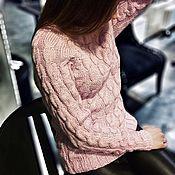 Одежда ручной работы. Ярмарка Мастеров - ручная работа Женский свитер из кашемира с шелком. Handmade.