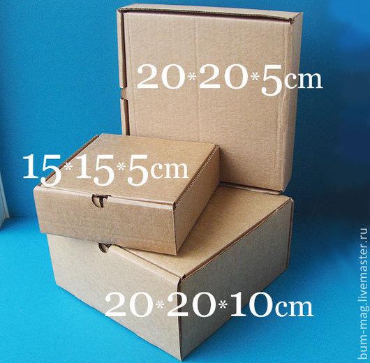 """Упаковка ручной работы. Ярмарка Мастеров - ручная работа. Купить Коробка из гофрокартона самосборная (конструкция типа """"пицца""""). Handmade. Упаковка"""