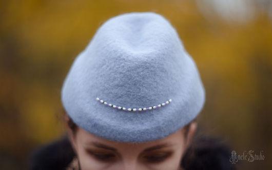 Шляпы ручной работы. Ярмарка Мастеров - ручная работа. Купить Пилотка Ш_14027. Handmade. Сиреневый, пилотка, шляпка пилотка