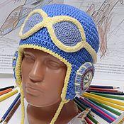 Работы для детей, ручной работы. Ярмарка Мастеров - ручная работа Шлем пилота (ярко-синий). Handmade.