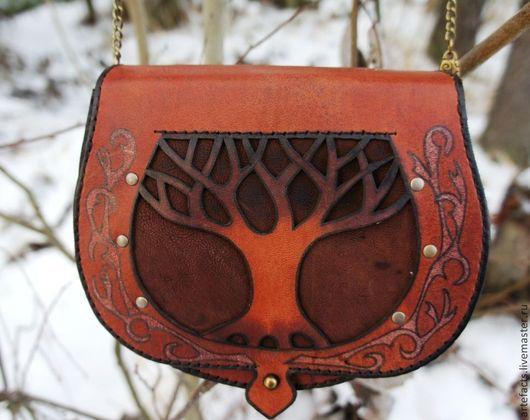 Женские сумки ручной работы. Ярмарка Мастеров - ручная работа. Купить Красное деревце. Handmade. Орнамент, орнамент дерево