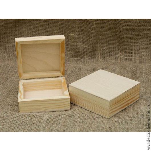 Заготовка для декупажа. Шкатулка  из  дерева, сосна 18х18х9 см арт PA 09018   3/0