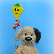 Подарки к праздникам ручной работы. Ярмарка Мастеров - ручная работа пёсик Генка с воздушным змеем. Handmade.