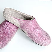 Обувь ручной работы handmade. Livemaster - original item Women`s felted Slippers from natural wool. Handmade.